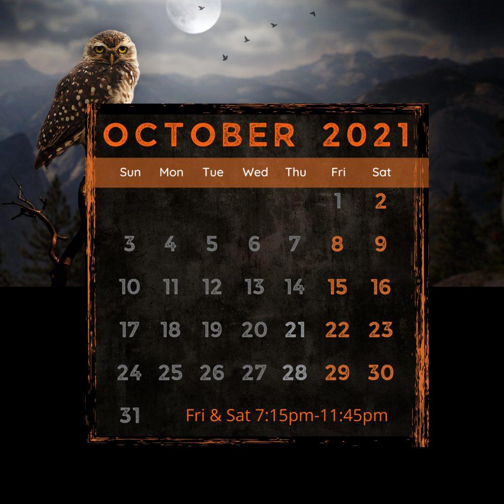 October Schedule Calendar